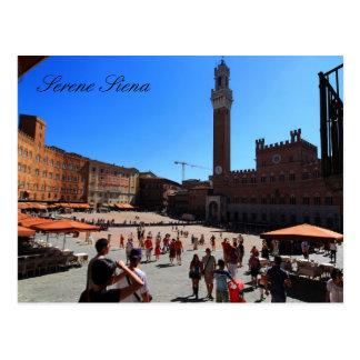 Postal Postal: Piazza del Campo, Siena, Italia