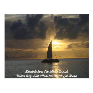 Postal Postal: Puesta del sol del Caribe impresionante