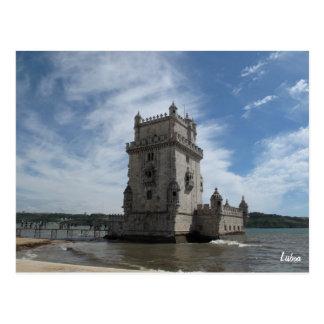 Postal Postal-Torre de Belem de Lisboa