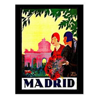 Postal Postal-Vintage Viaje-Madrid