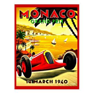 Postal Postal-Vintage Viaje-Mónaco
