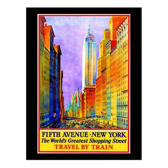 Postal Postal-Vintage Viaje-Nueva York 3