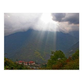 Postal Postcard Door to Heaven, Trongsa, Bhutan