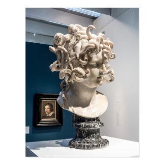 Postal Postcard el Louvre II Medusa Estatua, París