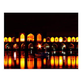 Postal Postcard Khaju Puente en Isfahan, Irán