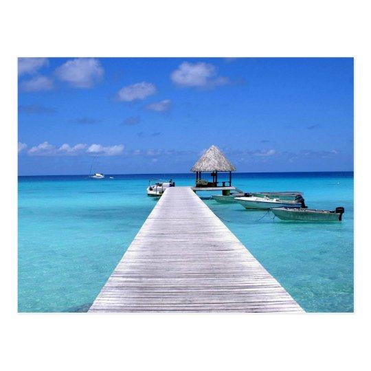 Postal Postcard Kia Ora, Rangiroa Atoll French Polynesia