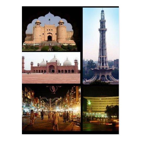 Postal Postcard Lahore Monumentos, Punjab, Pakistán