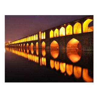 Postal Postcard Siosepol (Bridge of 33 Arch) Isfahan Iran