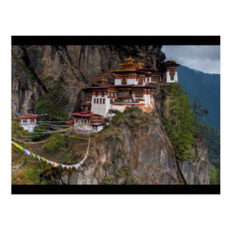 Postal Postcard Taktsang Monastery Tiger´s nest in Bhutan