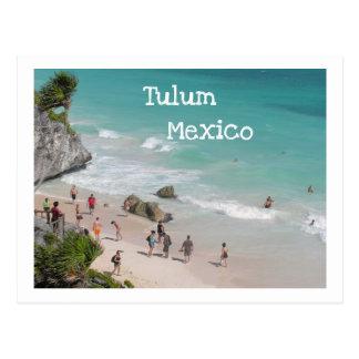 POSTAL POSTCARD/TULUM, MEXICO/RUINS SOBRE LA PLAYA