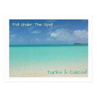 """Postal postcard/TURKS Y CAICOS/""""CAÍDA BAJO ENCANTO """""""