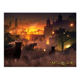 Postal Postcard Viaje to Fantasy - Oriental Felino