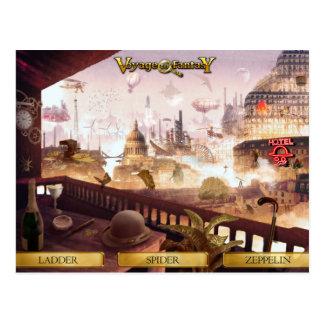 Postal Postcard Voyage to Fantasy - SteamPunk City