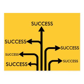 Postal Poste indicador de motivación de la meta del éxito