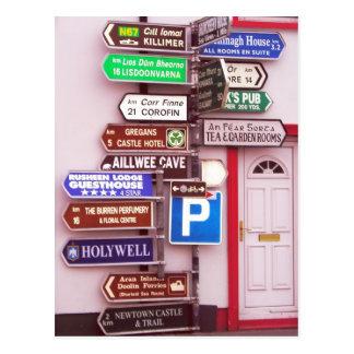 Postal Poste indicador irlandés