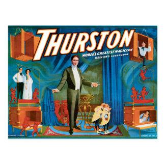 Postal Poster 1910 del mago del vintage de Thurston