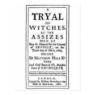 Postal Poster auténtico de los ensayos de la bruja