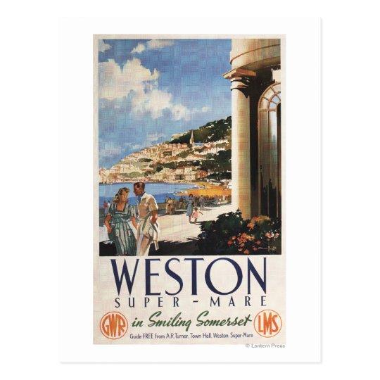 Postal Poster de desatención del ferrocarril de la costa