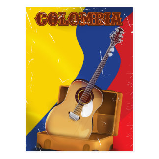 Postal Poster de la guitarra de las vacaciones del