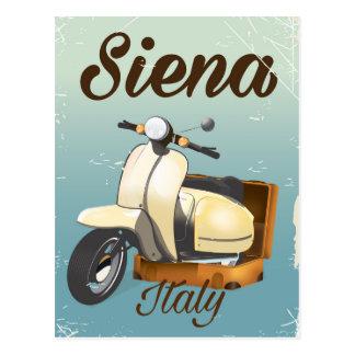 Postal Poster de las vacaciones de la vespa de Siena