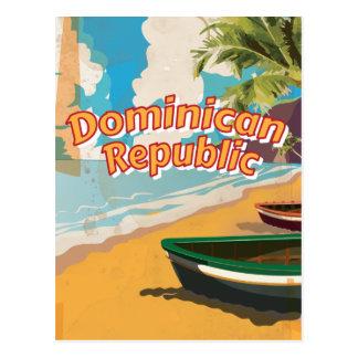 Postal Poster de las vacaciones del vintage de la