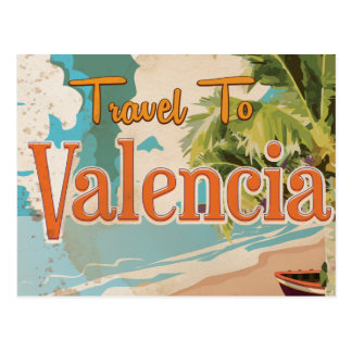 Postal Poster de las vacaciones del vintage de Valencia,