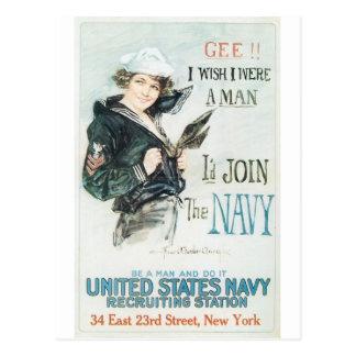 Postal Poster de Old Navy circa 1918