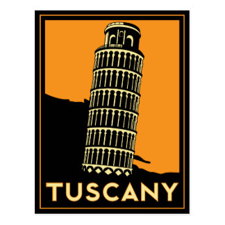 Postal Poster del art déco de Toscana