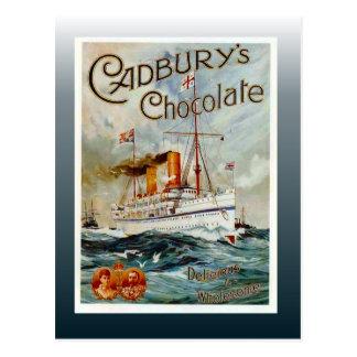Postal Poster del chocolate del vintage, el chocolate de