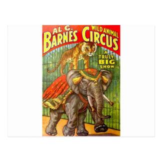 Postal Poster del circo