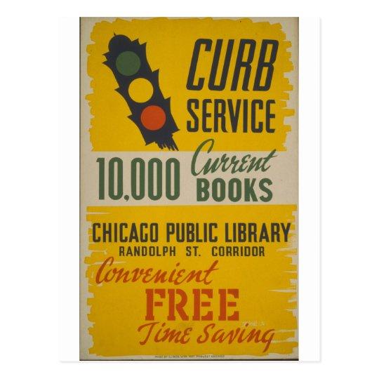 Postal Poster del servicio del encintado de la biblioteca