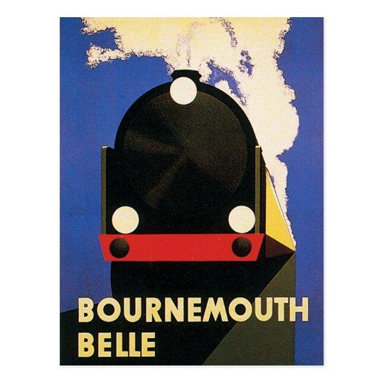 Postal Poster del tren de la belleza de Bournemouth del