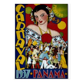 Postal Poster del viaje de Panamá, 1937