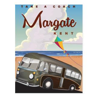 Postal Poster del viaje del coche del vintage de Margate