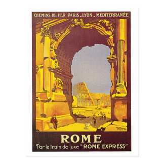 """Postal Poster del viaje del francés del vintage de """"Roma"""""""