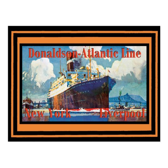 Postal Poster del viaje del vintage