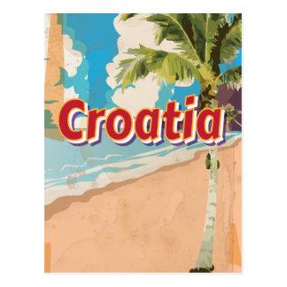 Postal Poster del viaje del vintage de Croacia