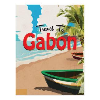 Postal Poster del viaje del vintage de Gabón