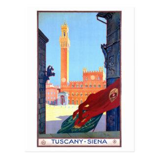 Postal Poster del viaje del vintage de Italia Siena