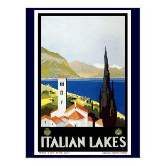 """Postal Poster del viaje del vintage de los """"lagos"""