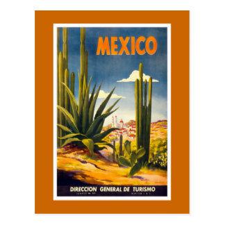 """Postal Poster del viaje del vintage de """"México"""""""