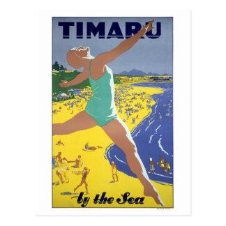 Postal Poster del viaje del vintage de Nueva Zelanda