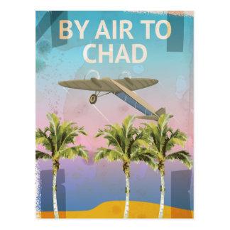 Postal Poster del viaje del vintage de República eo Tchad