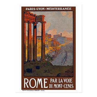 """Postal Poster del viaje del vintage de """"Roma"""""""