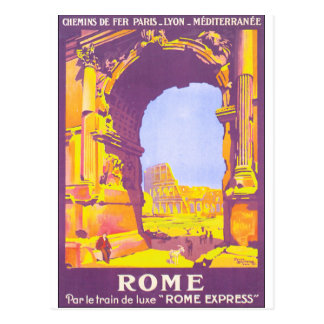 Postal Poster del viaje del vintage de Roma