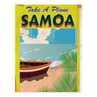 Postal Poster del viaje del vintage de Samoa