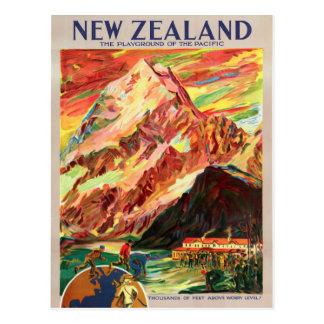 Postal Poster del viaje del vintage del cocinero de Nueva