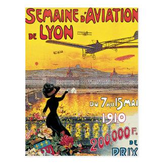 Postal Poster del viaje del vintage del de Lyon de la