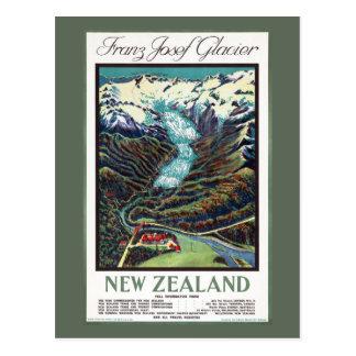 Postal Poster del viaje del vintage del glaciar de