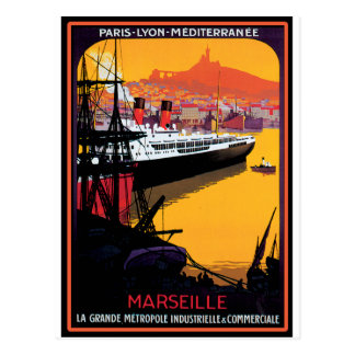 Postal Poster del viaje del vintage: Mediterráneo